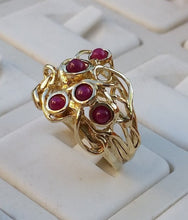 Load image into Gallery viewer, multistone gold ring