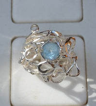 Load image into Gallery viewer, Blue Topaz Silver Ring