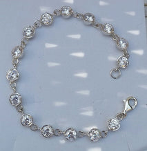 Load image into Gallery viewer, silver gemstones bracelet
