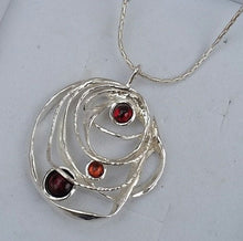 Load image into Gallery viewer, silver multistone pendant