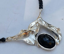 Load image into Gallery viewer, Onyx Silver Necklace