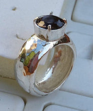 Load image into Gallery viewer, Silver Smoky Quartz Ring