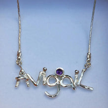 Load image into Gallery viewer, silver monogram necklace