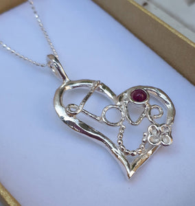 Silver Heart Love Pendant