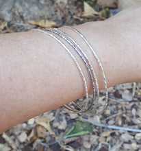 Load image into Gallery viewer, Silver Stackable Bracelet