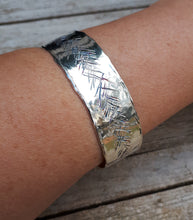 Load image into Gallery viewer, Silver Cuff Bracelet