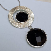 Load image into Gallery viewer, Silver Onyx Pendant