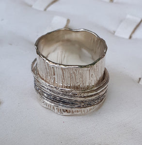 Silver Wide Spinner Ring