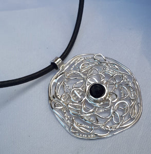 Leather And Silver Necklace