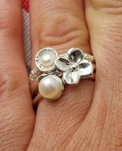 Load image into Gallery viewer, Stackable Pearls Silver Ring