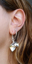 Load image into Gallery viewer, Calla Lily Silver Pearl Earrings
