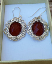 Load image into Gallery viewer, Agate Silver Earrings