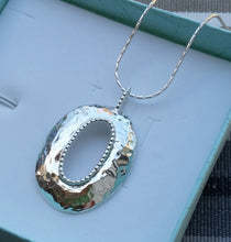 Load image into Gallery viewer, silver oval pendant