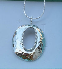 Load image into Gallery viewer, Silver Hammered Pendant