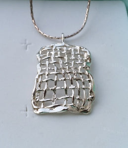 Silver Rectangle Pendant