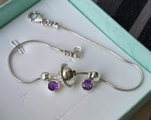 Load image into Gallery viewer, Ankle Silver Gems Bracelet
