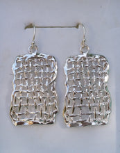 Load image into Gallery viewer, Silver Rectangle earrings