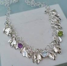 Load image into Gallery viewer, Silver Leaves Necklace