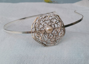 Silver And Pearl Headband