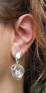 chandelier silver earrings