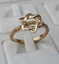Load image into Gallery viewer, Star Of David Gold Ring