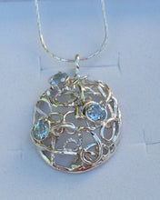 Load image into Gallery viewer, Blue Topaz Silver Pendant