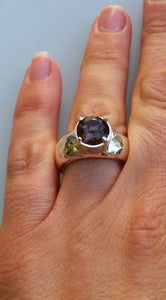 Silver Smoky Quartz Ring