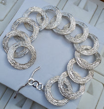 Load image into Gallery viewer, silver hoops bracelet