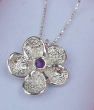 Load image into Gallery viewer, amethyst silver pendant