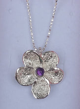 Load image into Gallery viewer, flower silver pendant
