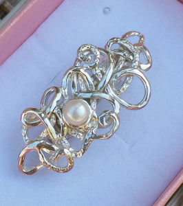 Bridal Silver Hair Pin