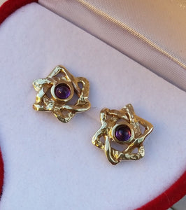 Star Of David Gold Studs