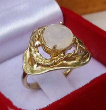 Load image into Gallery viewer, gold moonstone ring