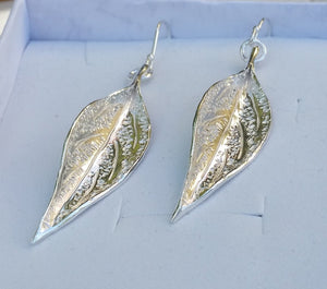 Silver Leaf Earrings