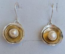 Load image into Gallery viewer, silver and gold earrings