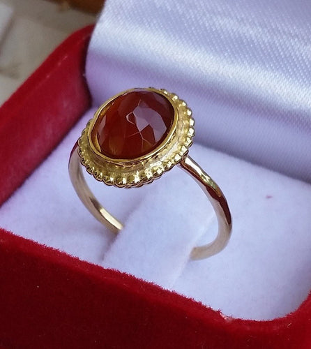 agate gold ring