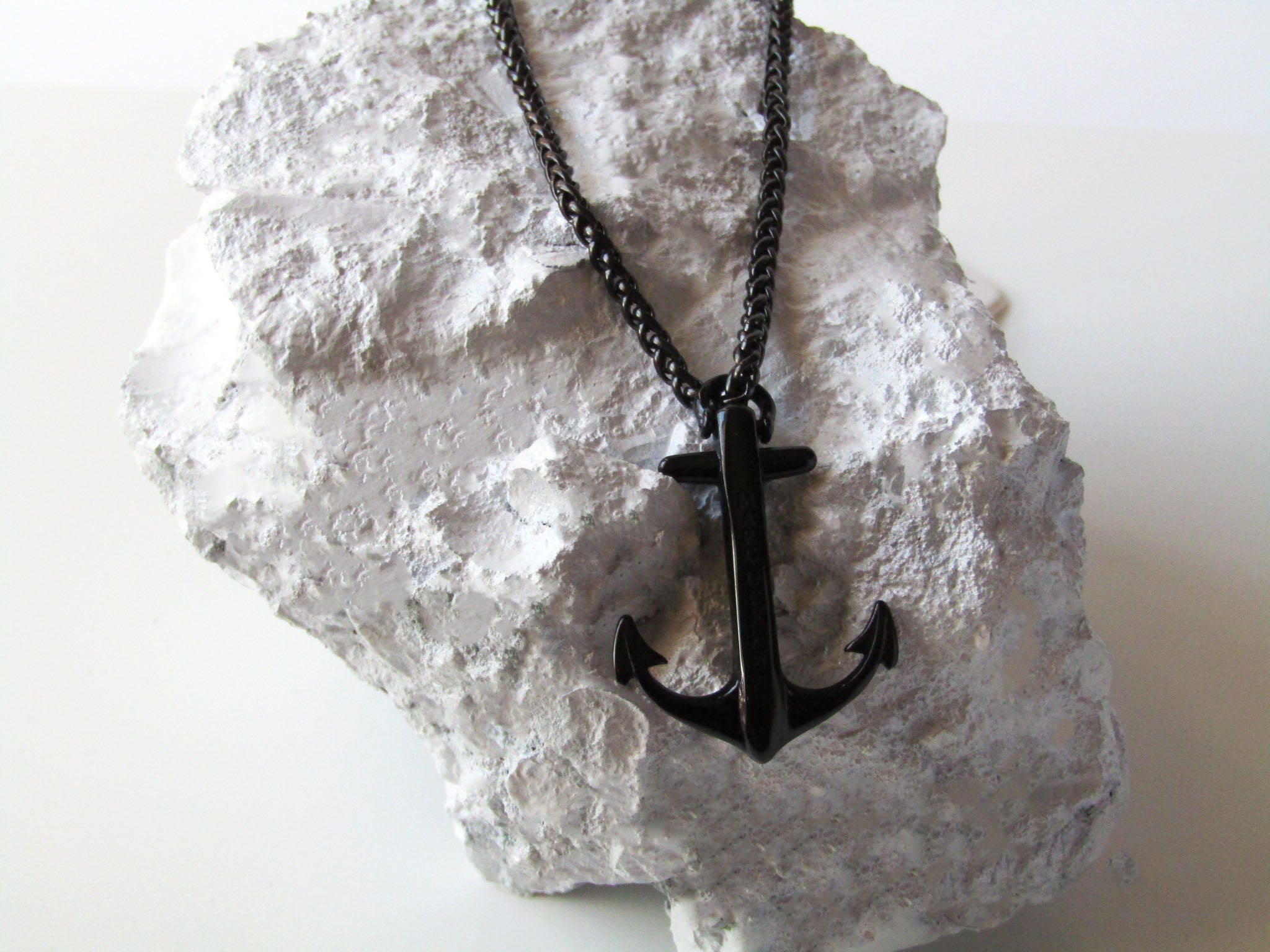Koral Black - MarcOcean  - jewellery  - necklace  - anchor