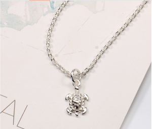 Tiny sea turtle necklace 925 silver - MarcOcean  - jewellery  - necklace  - anchor