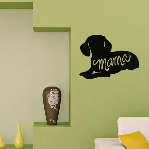 Image of Dachshund Mama Silhouette - Metal Wall Art/Decor