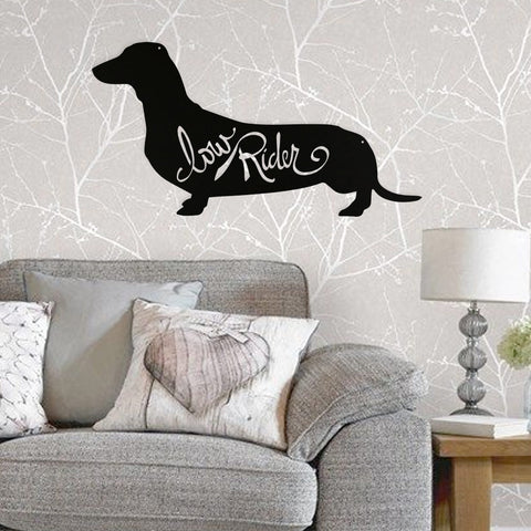 Image of Dachshund Low Rider - Metal Wall Art/Decor