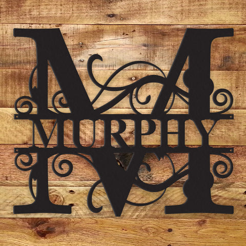 Fancy Monogram - Metal Wall Art/Decor
