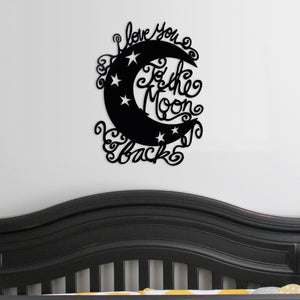 Moon and Back - Whimsical - Metal Wall Art/Decor