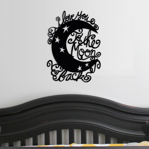 Image of Moon and Back - Whimsical - Metal Wall Art/Decor