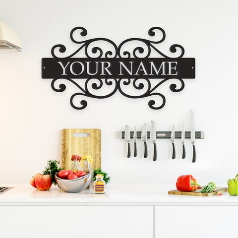 Image of Family Name - Metal Wall Art/Decor