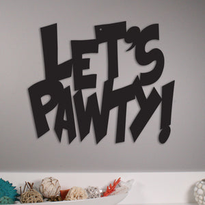 Let's Pawty! - Metal Wall Art/Decor