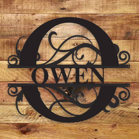 Image of Fancy Monogram - Metal Wall Art/Decor