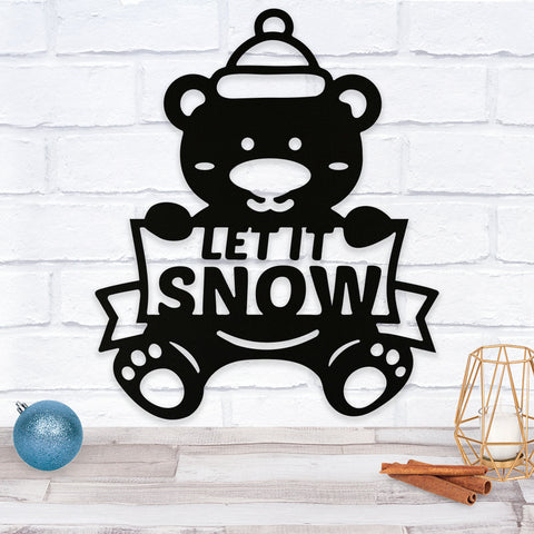 Let It Snow Bear - Metal Wall Art/Decor