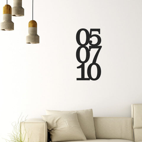 Image of Anniversary Date - Metal Wall Art/Decor