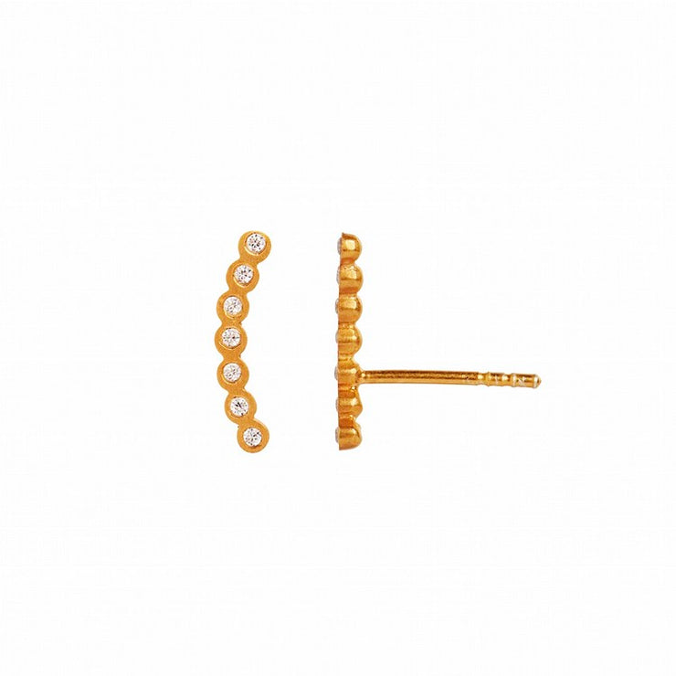 Seven Dots Earring Left Gold