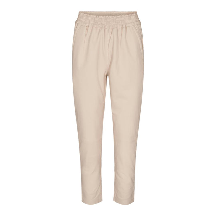 Shiloh Leather Pants Beige